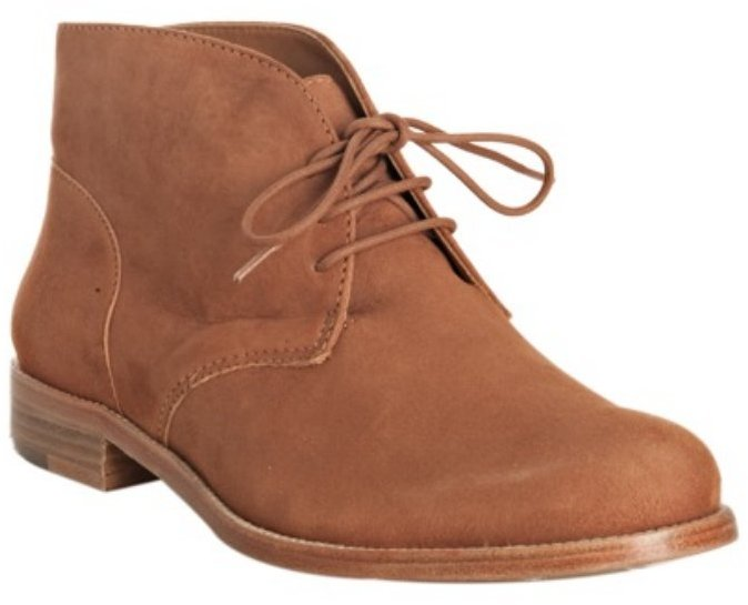 Pour la Victoire caramel suede 'Joy' flat ankle boots