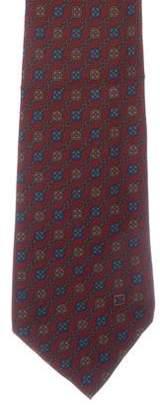 Celine Geometric Print Silk Tie