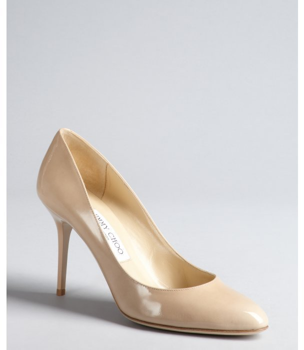 Jimmy Choo nude patent leather 'Gilbert' pumps