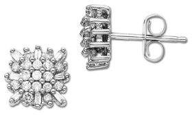 Lord & Taylor Diamond and 14K White Gold Stud Earrings