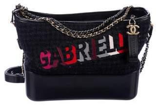 Chanel 2017 Tweed Gabrielle Bag Navy 2017 Tweed Gabrielle Bag