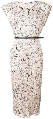 Max Mara micro pleated midi dress