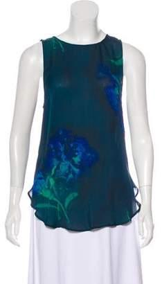 Haute Hippie Floral Printed Silk Sleeveless Tunic