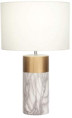 Brimfield & May Modern Cylindrical Ceramic and Iron Table Lamp
