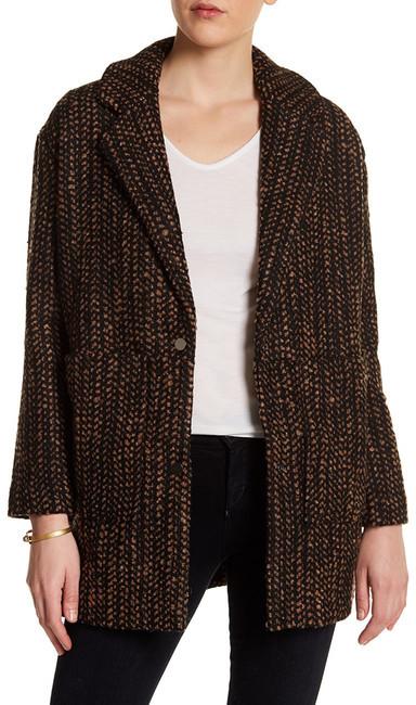 TopshopTOPSHOP Notch Lapel Long Sleeve Wool Blend Coat