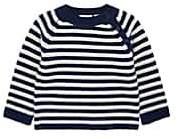 Barneys New York Infants' Striped Cashmere Sweater - Navy