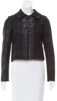 Yigal Azrouel Virgin Wool Patterned Jacket