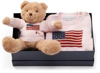 Ralph Lauren Flag Sweater & Polo Bear Set