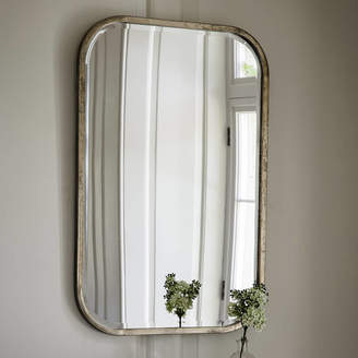 Co The Forest & Antiqued Silver Slim Rectangle Mirror