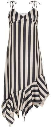 Marques Almeida Marques'Almeida asymmetric hem striped midi dress