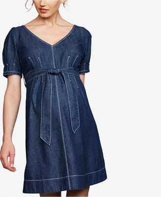 1e2da0d61f847 A Pea in the Pod Maternity Cotton Denim Dress