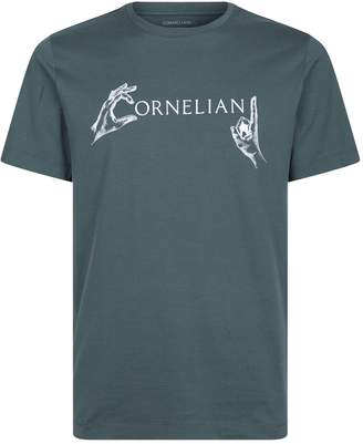 Corneliani Hands Print Logo T-Shirt