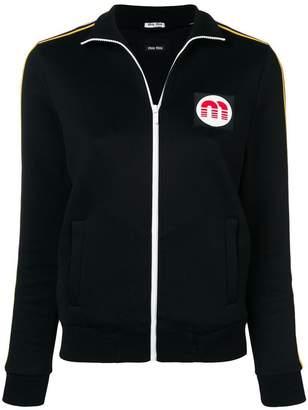 Miu Miu logo sport jacket