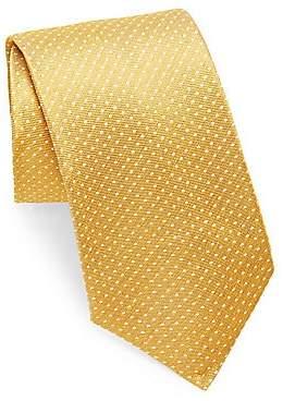 Isaia Men's Polkadot Print Silk Tie