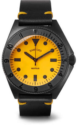 Bamford Watch Department - Mayfair Stainless Steel and Leather Watch