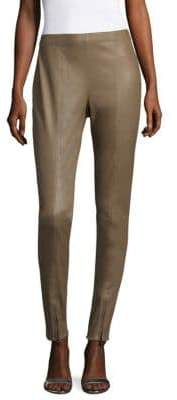 St. John Stretch Leather Skinny Pants