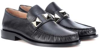 Valentino Lock leather loafers
