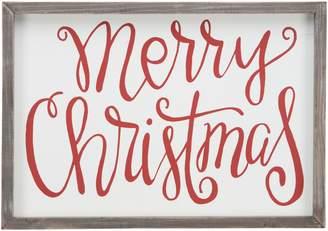 Glory Haus Merry Christmas Framed Fabric Wall Art