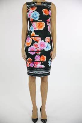 Joseph Ribkoff Floral Accent Dress