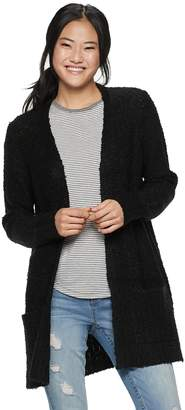It's Our Time Its Our Time Juniors' Boucle Open Cardigan