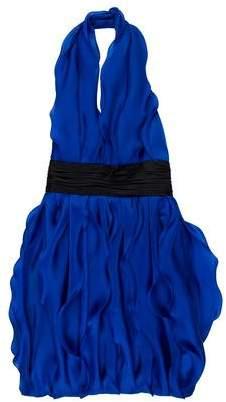 Marchesa Ruffled Silk Dress