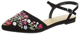 New Look Women's 5264940 Closed Toe Sandals, (Black), 38 EU