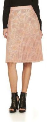 Burberry Technical-Pleated Tulle A-Line Skirt