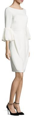 Laundry by Shelli Segal Bell Sleeve Crepe Dress $295 thestylecure.com