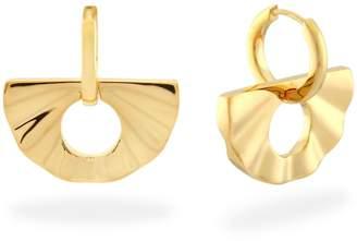 Monarc Jewellery - Fan Huggie Hoops Gold Vermeil