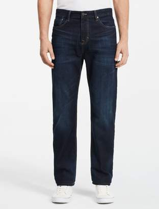 Calvin Klein relaxed straight fit dark wash jeans