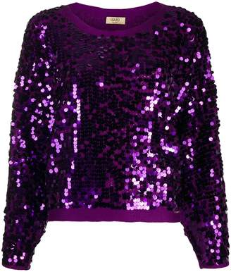 Liu Jo relaxed-fit sequined jumper