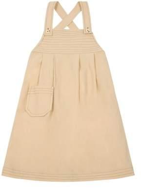 Polder Sale - Daisy Overstitch Dungaree Dress Girl