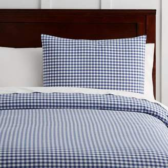Pottery Barn Teen Classic Gingham Duvet Cover, Twin/Twin XL, Twilight Navy