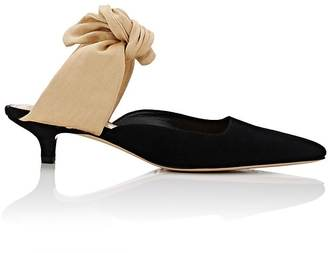 The Row Women's Coco Suede Mules $795 thestylecure.com