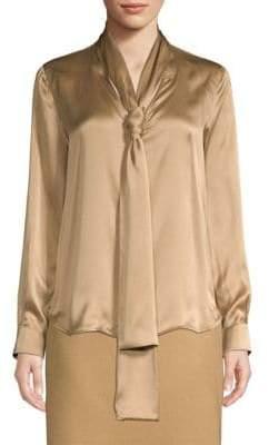 Max Mara Lignano Silk Tie Blouse