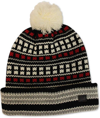 Sean John Men's Fair Isle Cuff Pom Beanie