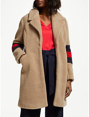 Hereford Fleece Knit Coat, Soft Truffle