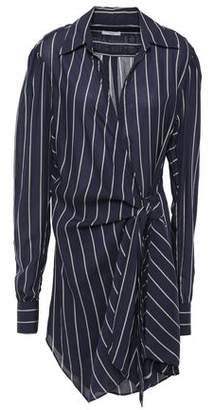 Tome Striped Chiffon Wrap Dress