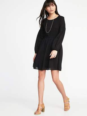 Old Navy Fit & Flare Smocked-Bodice Dress for Women