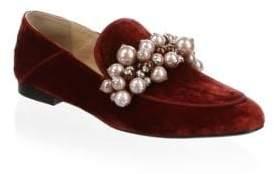 Louis Leeman Iris Velvet Loafers
