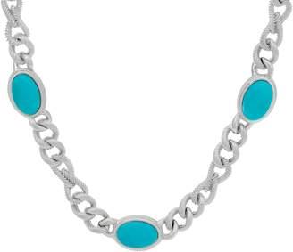 "Judith Ripka Verona 18"" Gemstone Necklace Sterling 62.0g"