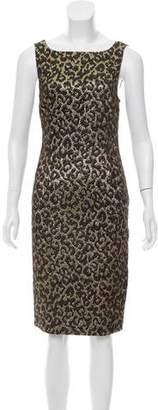 Michael Kors Leopard Pattern Brocade Dress