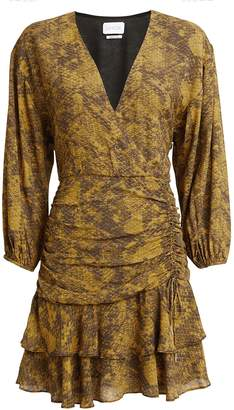 Saylor Electra Snake-Printed Mini Dress