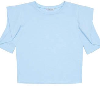 Neiman Marcus Megan Puff-Sleeve Top