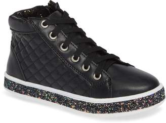 Steve Madden Glittery High Top Sneaker