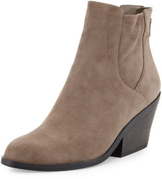 Eileen Fisher Peer Suede Ankle Boot $285 thestylecure.com
