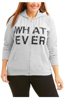 Generic Women's Plus Graphic Fleece Hoodie