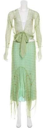 Rozae Nichols Silk Printed Skirt Set
