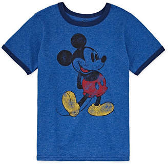 Disney Boys Round Neck Short Sleeve Mickey Mouse Graphic T-Shirt Preschool / Big Kid