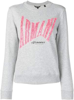Armani Exchange sequin logo sweatshirt